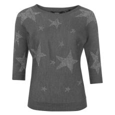 Golddigga Star női kötött pulóver sötétszürke XL
