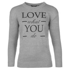 Golddigga Slogan női kötött pulóver szürke S