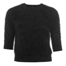 Golddigga Eyelash Crew női pulóver fekete S