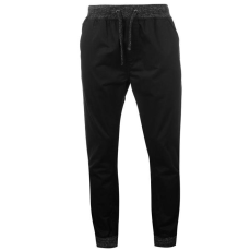 SoulCal Chino férfi gumis derekú pamut nadrág fekete S