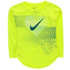Nike kisgyermek hosszú ujjú felső - volt - Nike Heart Geo LS T Shirt Infant Girls