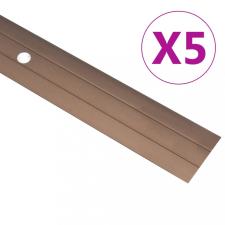 5 db barna alumínium padlóprofil 134 cm építőanyag