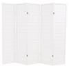 5 paneles, fehér, japán stílusú paraván 200 x 170 cm