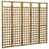 5-paneles tömör akácfa szobaelválasztó/paraván 200 x 170 cm