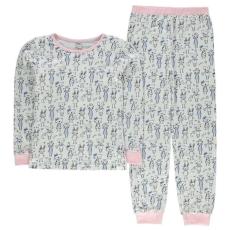 Crafted gyerek pizsama szett - Crafted Design Pyjama Set Junior Girls - White/Blue Cat