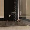 """Netrack fali szekrény, 19"""", 4.5U/240 mm - szénfekete, üveg ajtó"""