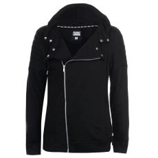 Fabric Biker férfi kapucnis cipzáras pulóver fekete S