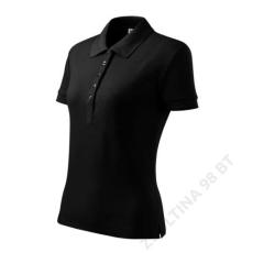 ADLER Cotton ADLER galléros póló női, fekete