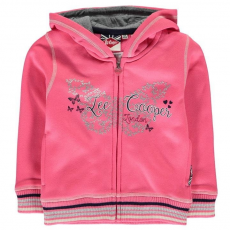Lee Cooper kisgyermek cipzáras pulóver - Lee Cooper Glitzy Zipped Sweater Infant Girls