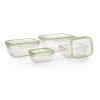 Banquet Műanyag élelmiszertartó doboz készlet, 4 db, zöld