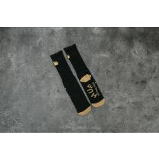 HUF Apparel Socks Cmon Leaf Plantlife Crew Sock Black