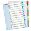 Nebuló Regiszter, laminált karton, A4 Maxi, 1-12, újraírható, ESSELTE