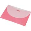 Nebuló Irattartó tasak, A4, PP, patentos, két zsebes, PANTA PLAST, pasztell rózsaszín