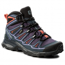 Salomon Bakancs SALOMON - X Ultra Mid 2 Gtx GORE-TEX 390399 20 V0 Nightshade Grey/Deep Blue/Coral Punch