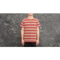 HUF Malibu Short Sleeve Stripe Shirt Red