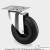 Tömörgumis műanyagfelnis kerék önbeálló villával (125)