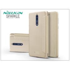 Nillkin Nokia 8 oldalra nyíló flipes tok - Nillkin Sparkle - gold tok és táska
