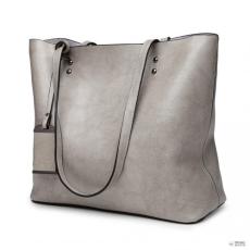 Gant Miss Lulu London E6710 GY - Miss Lulu Oil Wax bőr Top-fogantyú táska szürke