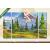 Képáruház.hu Premium Kollekció: Landscape, nature vector background(135x80 cm, W01 Többrészes Vászonkép)