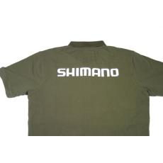 Shimano Tribal zöld poló V Nyakas