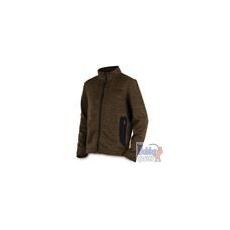 FOX Chunk Medium Knit Cardi Khaki czipzáros pulóver