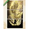 Képáruház.hu Premium Kollekció: illustration digital painting dragon warrior fighting(125x70 cm, L01 Többrészes Vászonkép)