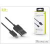 Kit Apple iPhone 5/5S/5C/SE/iPad 4/iPad Mini USB töltő- és adatkábel - 1 m-es vezetékkel (Apple MFI engedélyes) - Kit Charge/Cable Lightning - black