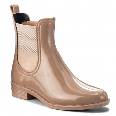 Tommy Hilfiger Gumicsizmák TOMMY HILFIGER - Chelsea Rain Boot Striped FW0FW02817 Mahogany Rose 634