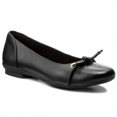 Clarks Balerina CLARKS - Neenah Poppy 261323664 Black Leather
