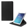 utángyártott Samsung Galaxy Tab E 9.6, 3G (SM-T561) - Tok álló, bõr (FLIP, asztali tartó funkció, 360°-ban forgatható) FEKETE