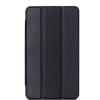 utángyártott Huawei Mediapad T2 7 - Tok álló, bõr (FLIP, oldalra nyíló, TRIFOLD asztali tartó funkció) FEKETE