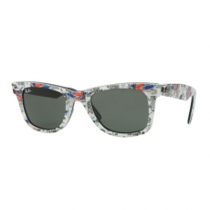 Ray-Ban RB2140 1115 WAYFARER TOP TEXTURE LONDON ON BLACK GREEN napszemüveg