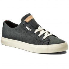 Tommy Hilfiger Sportcipő TOMMY HILFIGER - Unlined Leather Low Cut Sneaker FM0FM01318 Midnight 403