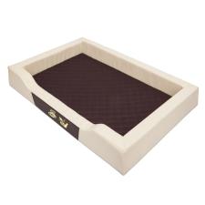 Krakvet DELUXE fekhely szín: bézs 75x50cm szállítóbox, fekhely kutyáknak