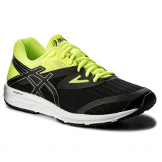 Asics Cipő ASICS - Amplica T825N Black/Silver/Safety Yellow 9093