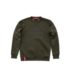 Alpha Indsutries Basic Sweater - dark green/lilac