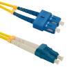 Qoltec Optic Patchcord SC/UPC-LC/UPC ; Singlemode ; 9/125 ; G652D ; Duplex ; 3m