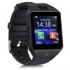 Bluetooth karóra, SmartWatch, szilikon szíj, kamera, SIM kártya foglalat, USB töltőkábel, fekete