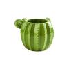 Cactus kerámia váza, 13 cm