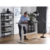 Beliani Állítható magasságú fekete/fehér íróasztal 180x80 cm UPLIFT
