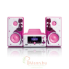 Lenco MC-020 PRINCESS Mikro HiFi torony Bluetooth, FM rádio és USB (pink)