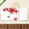 Képáruház.hu Premium Kollekció: Vörös japán juharfalevél fehér háttéren(125x60 cm, L02 Többrészes Vászonkép)