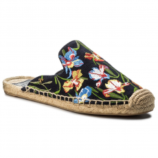 Tory Burch Espadrilles TORY BURCH - Max Embrioidered Espadrille Slide 46913 Perfect Nany/Painted Iris 449