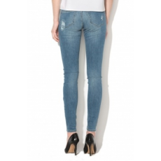 Only , Carmen skinny fit szaggatott farmernadrág, Világoskék, W32-L32 (15153068-MEDIUM-BLUE-DENIM-W32-L32)