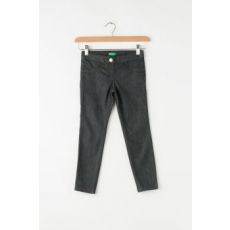United Colors of Benetton , Rugalmas derekú jeggings, Koptatott fekete, 150 CM Standard (4U4057810-100-XL)