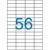 VICTORIA Etikett, univerzális, 52,5x21,2 mm, VICTORIA, 5600 etikett/csomag [100 lap]