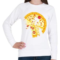 PRINTFASHION Pizza hold - Női pulóver - Fehér