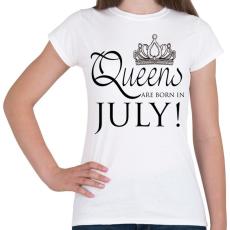 PRINTFASHION Queens - Női póló - Fehér