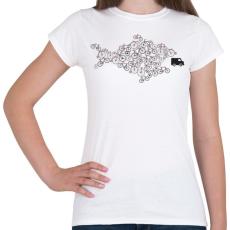 PRINTFASHION Bike - Női póló - Fehér