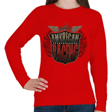 PRINTFASHION Amerikai verseny - Női pulóver - Piros